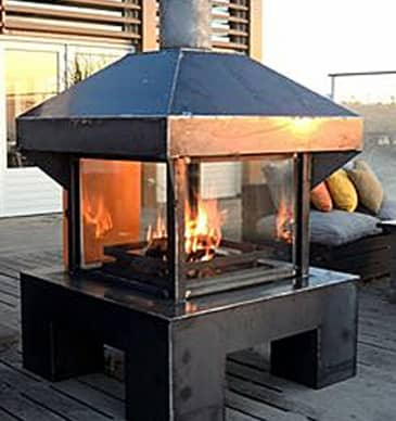 Tuinhaard buiten hout maatwerk houtkachel kuijt for Gas tuinhaard